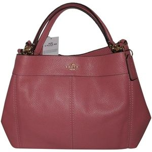 Handbags - Coach Small Lexy Vintage Pink Leather Shoulder Bag